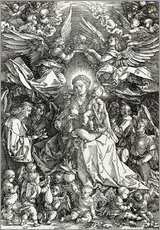 Adesivo murale  The Virgin and Child surrounded by angels - Albrecht Dürer