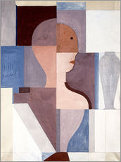 Adesivo murale  Split Half Figure to the Right - Oskar Schlemmer