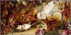 Adesivo murale  The Chase of the White Mouse - John Anster Fitzgerald