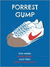 Stampa su plexi-alluminio  alternative forrest gump sneakers art - 2ToastDesign