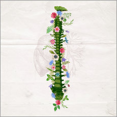 Adesivo murale Floral Spine