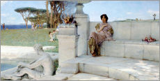 Stampa su plexi-alluminio  The Voice of Spring. - Lawrence Alma-Tadema