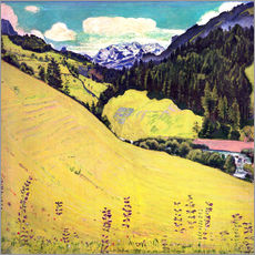 Adesivo murale  View of the Blüemlisalp - Ferdinand Hodler