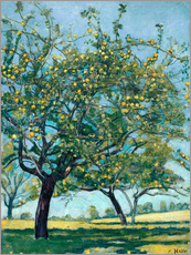 Adesivo murale  Paddock with apple trees - Ferdinand Hodler
