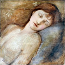 Adesivo murale  Sleeping Princess - Edward Burne-Jones