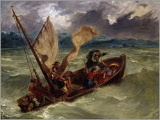 Adesivo murale  Jesus on Sea of Galilee - Eugene Delacroix