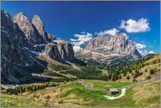 Stampa su plexi-alluminio  Dolomite panorama Langkofel and Sellagruppe - Achim Thomae