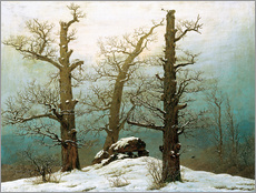Stampa su plexi-alluminio  Megalithic grave in the snow - Caspar David Friedrich