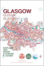 Adesivo murale  Glasgow city map - campus graphics