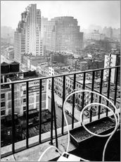 Adesivo murale  New York: View from penthouse, 56 Seventh Avenue, Manhattan - Christian Müringer