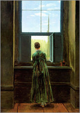 Adesivi murali  Woman at the window - Caspar David Friedrich