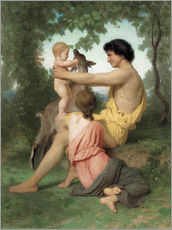 Adesivo murale  Idylle: famille antique - William Adolphe Bouguereau
