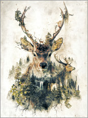 Adesivi murali  Deer Nature Surrealism - Barrett Biggers
