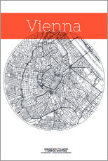 Adesivo murale  Vienna Map County - campus graphics