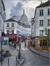 Adesivi murali  Streets of Montmartre and Sacre Coeur - Jan Christopher Becke