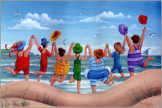 Adesivi murali  Beach party rainbow scene - Peter Adderley