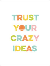 Adesivo murale  Think crazy ideas - Typobox
