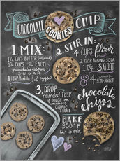 Adesivo murale  Ricetta cookies (in inglese) - Lily & Val