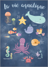Poster Premium  Vita sott'acqua - Francese - Kidz Collection