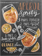 Adesivo murale  Ricetta Aperol Spritz (in inglese) - Lily & Val