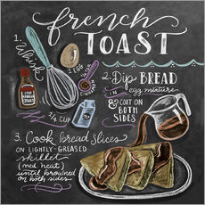 Adesivo murale  Ricetta french toast (in inglese) - Lily & Val