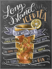 Adesivo murale  Ricetta Long Island Iced Tea (inglese) - Lily & Val