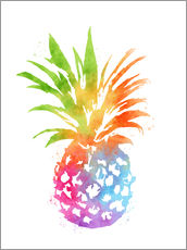 Stampa su plexi-alluminio  WC Pineapple 16x20 - Mod Pop Deco