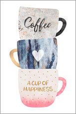 Adesivo murale  A cup of happiness - Elisabeth Fredriksson