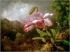 Adesivi murali  Orchids in a Jungle - Martin Johnson Heade