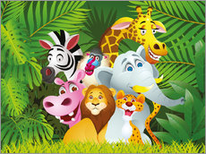 Adesivo murale  My jungle animals - Kidz Collection