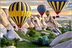 Adesivo murale  Hot air balloons over Goreme tuff rock formations