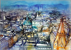 Adesivo murale  Vienna View from St. Stephen's Cathedral - Johann Pickl
