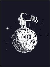 Adesivo murale The first man on the moon
