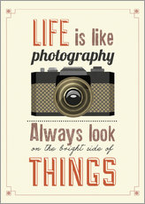 Stampa su plexi-alluminio  Life is photography