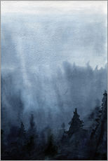 Adesivi murali  Mist over the forest