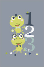 Jaysanstudio - Frogs playing with numbers