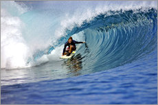 Adesivo murale  Surfing blue paradise island wave - Paul Kennedy