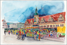 Hartmut Buse - Leipzig Weekly market in front of the Old Town Hall