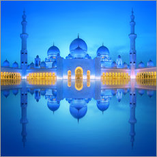 Adesivo murale  Sheikh Zayed Grand Mosque at blue