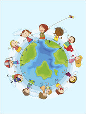 Adesivo murale  Children of the world - Kidz Collection
