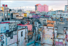 Adesivo murale  Authentic view of a street of Old Havana