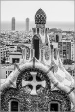 Adesivo murale  Impressive architecture and mosaic art at Park Guell