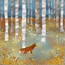 Stampa su plexi-alluminio  Autumn Fox - SpaceFrog Designs