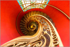 Adesivo murale  Spiral staircase in Brittany