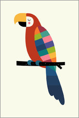 Adesivo murale  Rainbow Parrot - Andy Westface