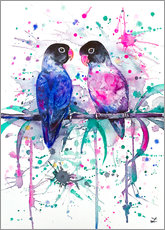 Stampa su plexi-alluminio  Love is in the air! Lovebirds - Zaira Dzhaubaeva