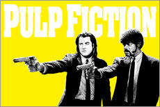 Adesivo murale Pulp Fiction Yellow BANG
