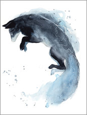 Adesivi murali  Watercolor Fox - Déborah Maradan