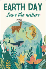 Adesivo murale  Save the nature - Kidz Collection