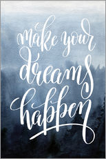 Stampa su plexi-alluminio  Make your dreams happen - Typobox